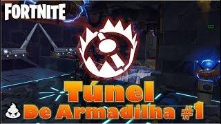 Como Construir TÚNEL DE ARMADILHA #1 - Fortnite Salve o Mundo