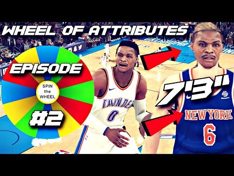 "Porzingis Turned into a 7'3"" Russell Westbrook...THE WHEEL OF ATTRIBUTES EP.2 NBA 2K18"