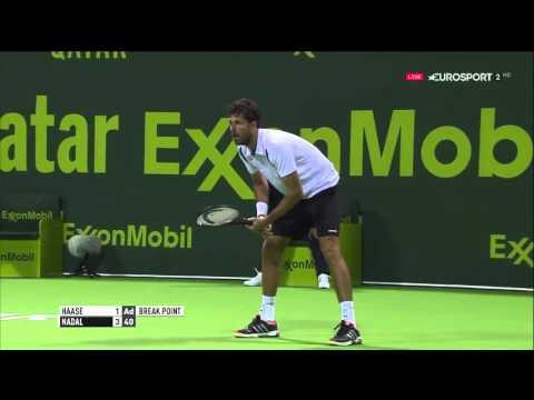Robin Haase vs Rafael Nadal FULL MATCH HD DOHA 2016