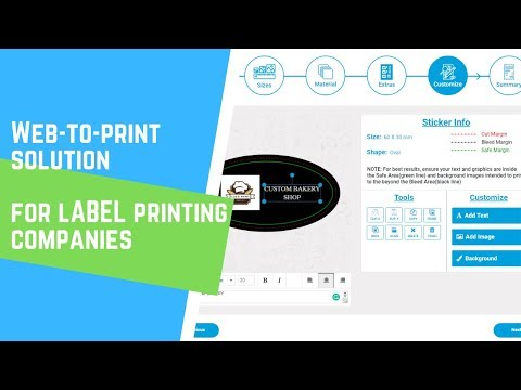 WebtoPrint Solution For Label & Sticker Printing Companies | W2p Designer Software | Labels Designer
