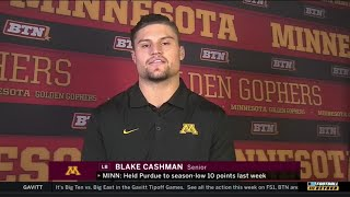 Blake Cashman, Gophers Ready for Big Ten West Champs | Minnesota | Big Ten Football