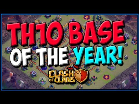 TH10 BASE OF THE YEAR! Best Town Hall 10 War Base | Clash Of Clans