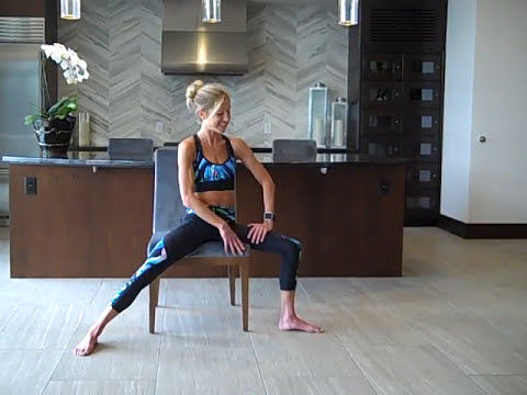 15 Minute All Levels Chair Yoga Routine For Injury, Disability, Or Stretching At Work.