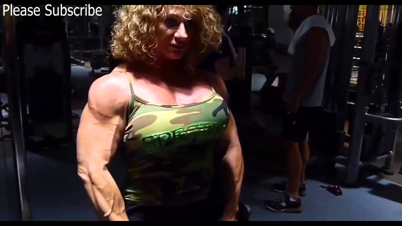 Female Bodybuilder Great Arm Muscles - Youtube-8468