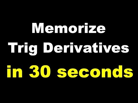 Trick for Memorizing Trig Derivatives