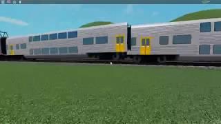 Transporte NSW V Set Derailment partindo Glenfield, plataforma 1 (Roblox)