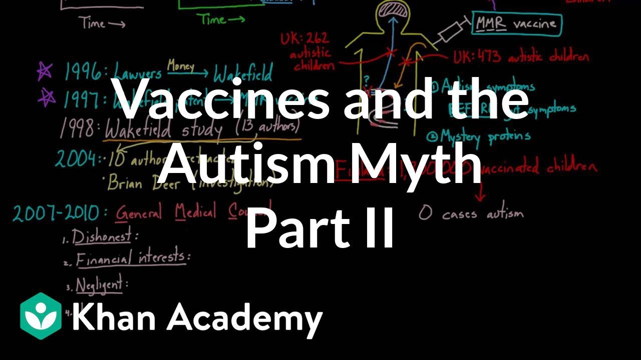 The Autism Vaccine Myth >> Vaccines And The Autism Myth Part 2 Video Khan Academy