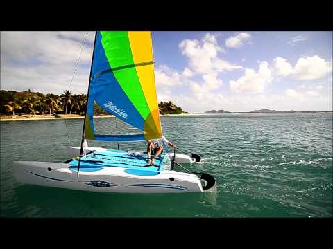 Sailing Hobie Cat at Surfsong Villa Resort