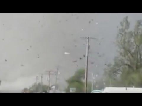 Dramatic Tornado Near  Quapaw, Oklahoma