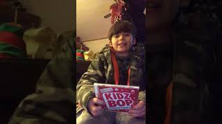 Kidz Bop Christmas 2019 Joey uboxing video YouTube today December 16 2018