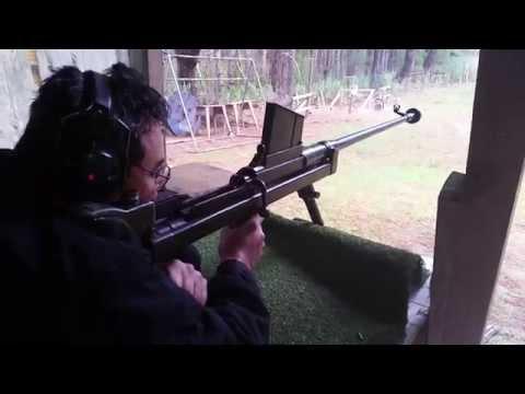 Darryl shooting the Boys .55in Anti Tank Rifle