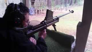 Darryl shooting the Boys .55in Anti Tank Rifle