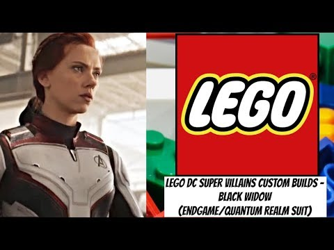 Lego Dc Super Villains Custom Builds Black Widow Endgame Quantum Realm Suit