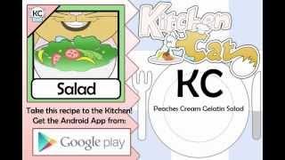 Peaches Cream Gelatin Salad - Kitchen Cat
