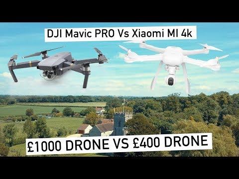£1000 Vs £400 Drone | DJI Mavic PRO Vs XIAOMI MI 4K | Review