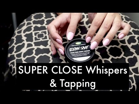 ASMR SUPER Close Whispers and Tapping for Anxiety Relief & Relaxation