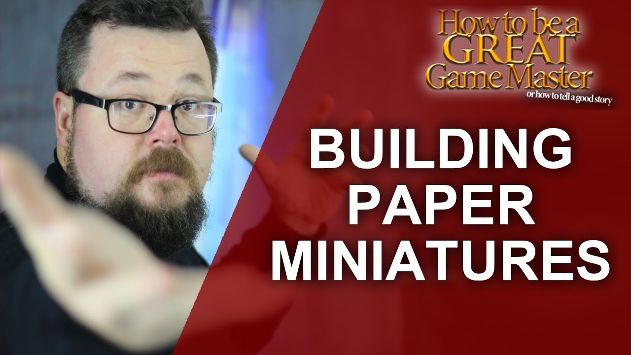 Great GM: How to build (Quality, Easy and Cheap) dnd miniatures Papercraft  Dungeon - Game Master Tip
