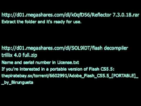 Download links for  NET Reflector and Flash Decompiler Trillix (supporting  AS3)