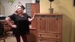Sedona Oak Armoire Desk by Sunny Designs Furniture