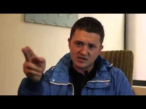 Tommy Robinson (English Defense League) speaks about Woolwic
