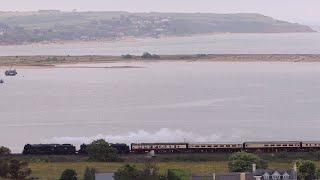 Saphos Rail Tours Devonian Express Steam Train through Dawlish
