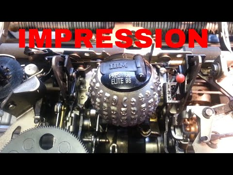 IBM Selectric Typewriter Dual Impression Control Cable Replacement Fix Repair