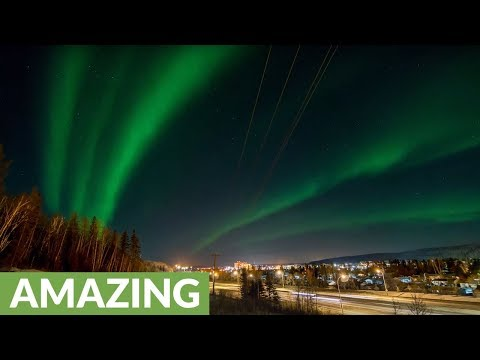 Time lapse captures Northern Lights over Alberta, Canada