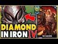 I TOOK MY DARIUS INTO IRON 4 FOR THE FIRST TIME! DIAMOND DARIUS VS IRON ELO! - League of Legends