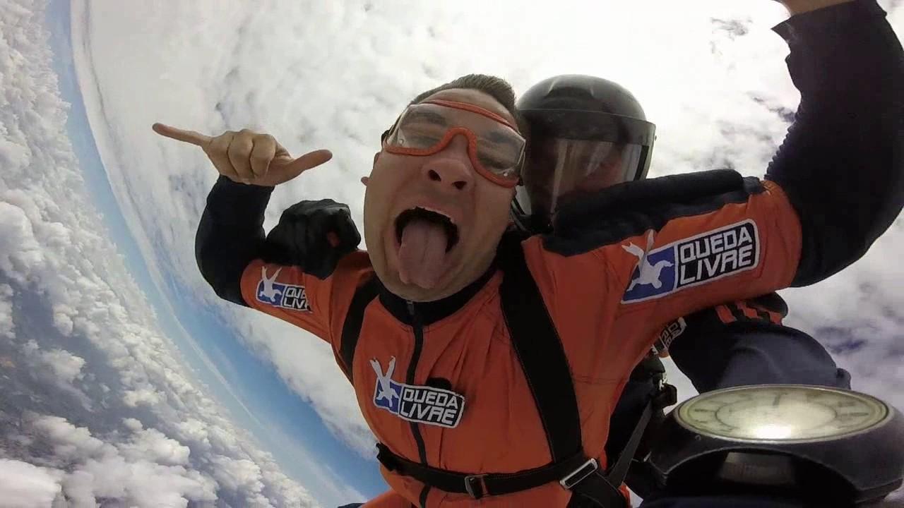 Salto de Paraquedas do Felipe S na Queda Livre Paraquedismo 15 01 2017