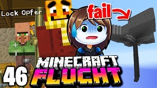 Wir starten die MONSTER-FALLE! (und opfern einen Dorfbewohner) ☆ Minecraft FLUCHT #46