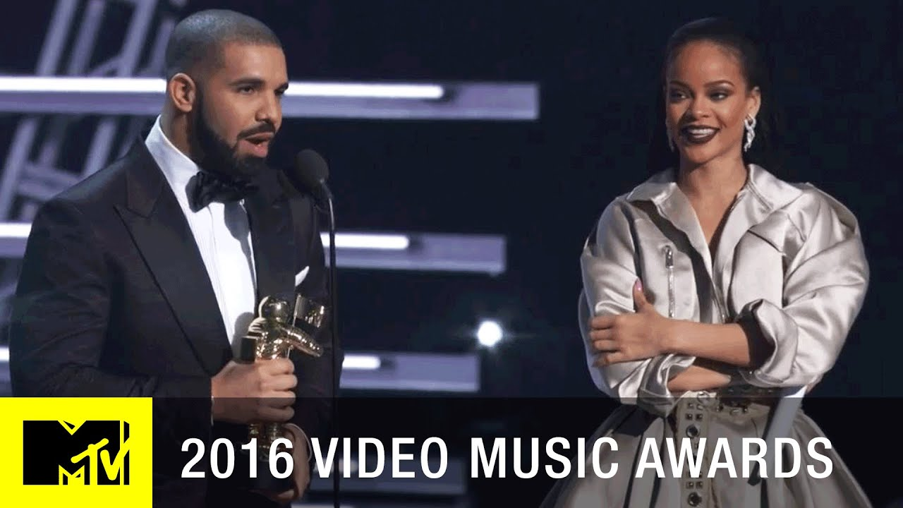 Drake Declares His Love For Rihanna Then Attempts A Kiss & Presents Her With Vanguard Award At MTV VMAs
