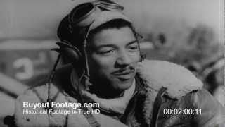 HD Stock Footage WWII Tuskegee Black Fighter Squadron | Wings for This Man