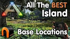 ARK Island ALL THE BEST BASE LOCATIONS