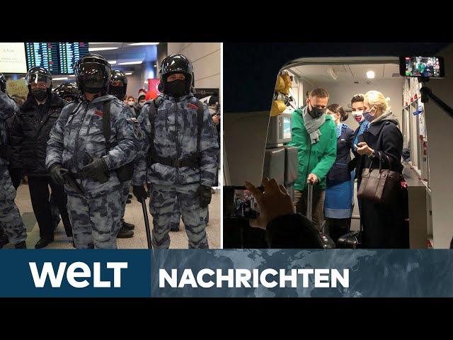 NEWSSTREAM: Kreml-Kritiker NAWALNY in Moskau gelandet: Festnahme durch Sicherheitsbehörden