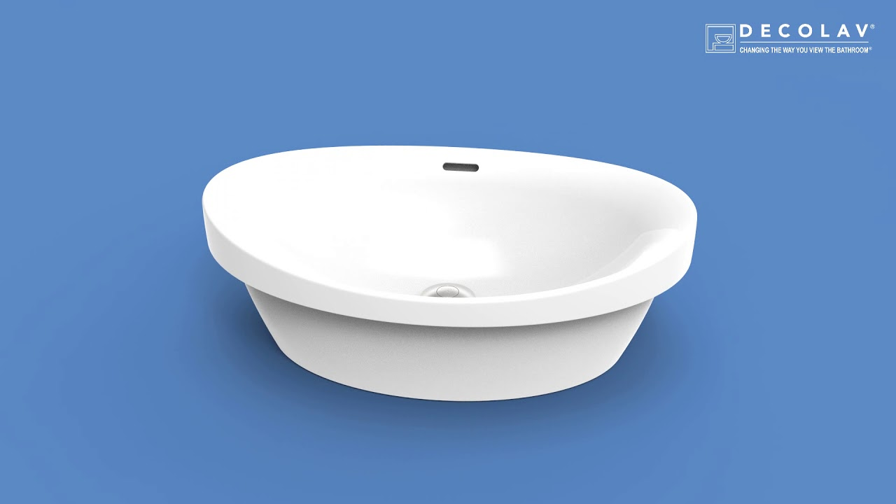 Andra | 14106-CWH | Semi-Recessed Bathroom Sink - YouTube