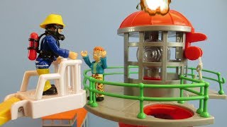 Fireman Sam Toys Episode 19 Norman Fire Lighthouse 2019 Toy Jupiter Venus Firefighter Fire Station