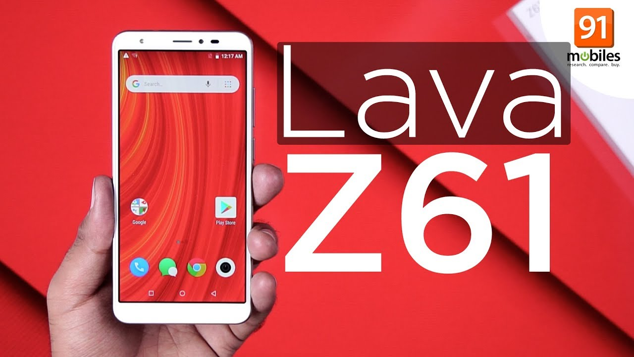 285671516c5f02 Lava Z61: Unboxing & First Look | Hands on | Price [Hindi ...