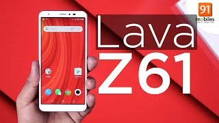 Lava Z61: Unboxing & First Look | Hands on | Price [Hindi हिन्दी]