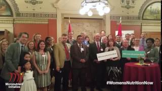 #WomensNutritionNow call to action in Canada's Senate Chamber