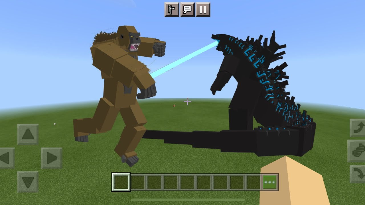 Godzilla vs Kong MOD in Minecraft PE YouTube