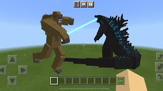 Godzilla vs Kong MOD in Minecraft PE