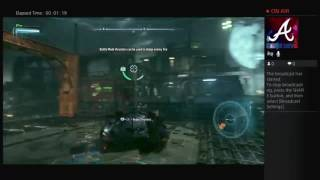 Batman Arkham knight how to control the slide for bat mobil