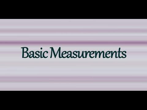 How To Take Basic Measurements Tutorial - For Sewing, Pattern Making, Dressmaking, & Clothing Design