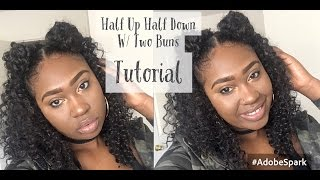 Half Up Half Down W/ Two Buns Hair Tutorial (DETAILED)
