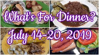 What's For Dinner?  July 14-20, 2019 | Cooking for Two | New Recipes!