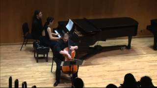 Bach Sonata for Cello and  Piano in g minor BWV 1029 2nd