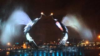 Шоу Журавлиный танец в Сингапуре. Crane Dance Resort World Sentosa Singapore
