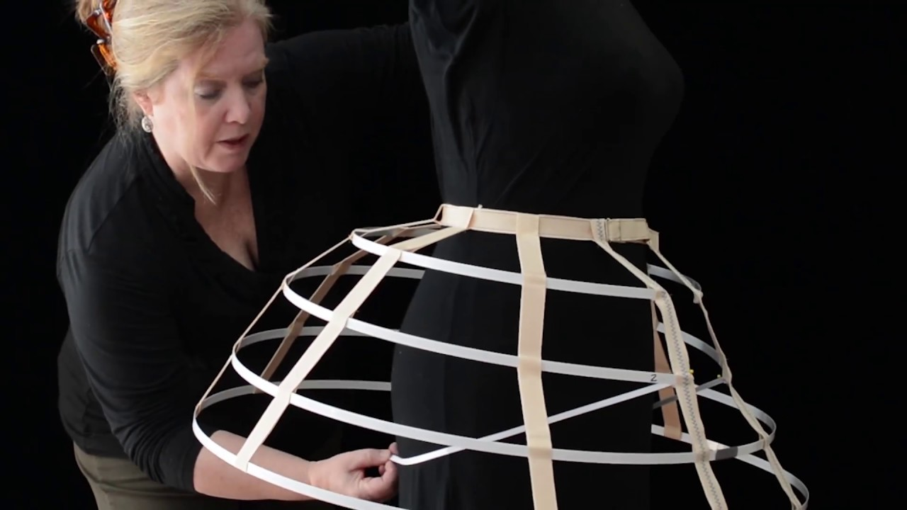 e0ef1eb59 How to Make a Cage Crinoline - YouTube