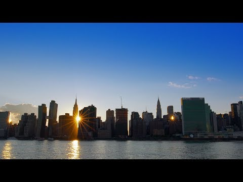 Gorgeous Manhattan skyline in ULTRAHD 4K! (REAL TIME)