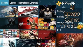 Download All PPSSPP Games in One Site || Free Download on Android